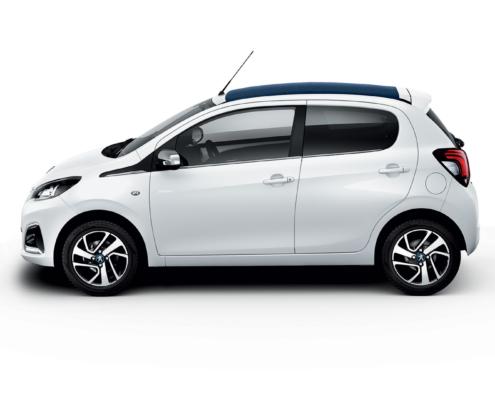 Peugeot 108 ανοιχτή οροφή αυτόματο ενοικίαση αυτοκινήτου Πάρος